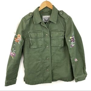 Levi's Military Field Jacket Floral Embroidered